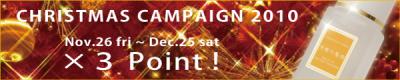 「高機能美容オイル専門」の化粧品メーカー「キャメロン&ガブリエル」 ご愛顧感謝記念「ポイント3倍!クリスマスキャンペーン」実施のご案内