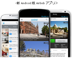 Androidデバイス向けAirbnbアプリを刷新