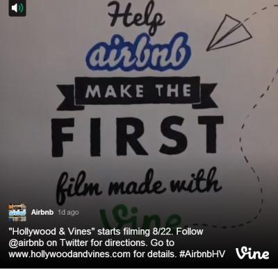 Airbnb、Vine動画を収集するキャンペーンを世界規模で展開