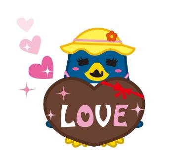 バレンタインに送ろう!<br />『にこにこ、ぷん』<br />のラブラブシリーズスタンプがLINEに登場!