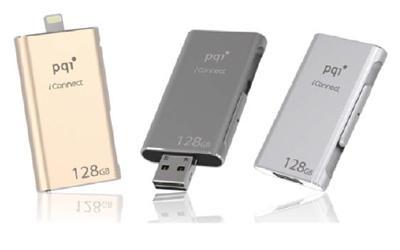 """Apple MFi認証取得済みLightningコネクタ搭載iPhone/iPadでも使える""""高速タイプ""""のUSBフラッシュドライブ PQI iConnect<br />2015年8月17日(月)発売予定"""