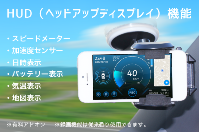 iPhone用ドラレコアプリ「マルチドライブレコーダ2」2015年年末年始セール開催!新しいアドオン「HUDモード」を搭載して特別価格でご提供!