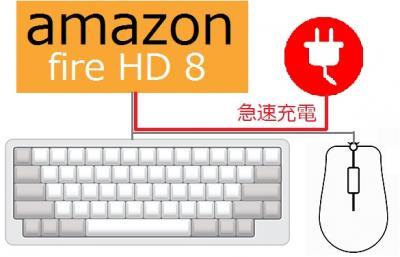電机本舗、Amazonタブレット「Fire HD8(2016)」で急速充電しながら使用できるUSBハブを発表、および窓タブユーティリティPremium VerUp