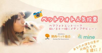 自慢のペットと一緒にメディアデビューしませんか? 関西ペット協会イメージモデルオーディション