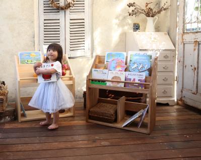 無垢の木を使用した「子どもがよろこぶ絵本棚のお店[人と木]」からNEWモデルが登場!