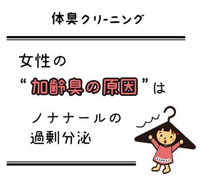 1500件の体臭検査で分かった日本人の体臭傾向と改善策。第1弾【女性の加齢臭はノナナールの過剰分泌が最大の原因】の分析の発表
