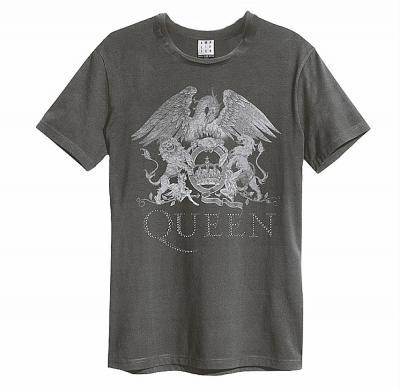 セレブ御用達、英国ロック・ブランドAMPLIFIEDとQUEENのコラボ・モデル発売決定! 世界限定500着!AMPLIFIED×QUEEN 公式Crest Premium Diamante Tシャツ