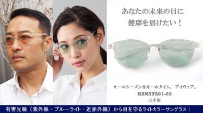 オールシーズン使える薄色レンズ搭載のオールタイムサングラス!3月11日より、クラウドファンディングプラットフォーム「Makuake」にて先行予約受付開始!