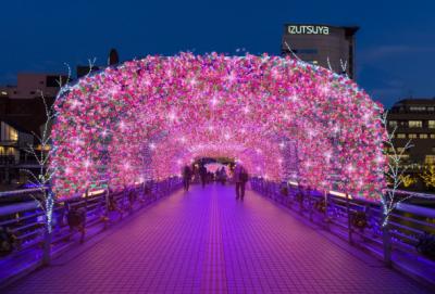 夜景評論家・丸々もとおプロデュース、花と光のトンネルが新登場! 「小倉イルミネーション2019」が開幕!