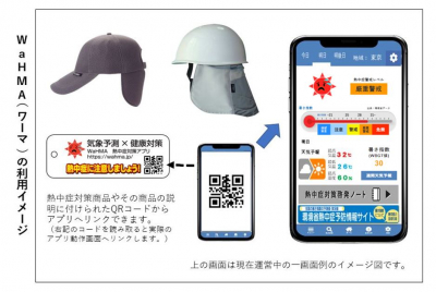 熱中症対策スマホアプリ『WaHMA(ワーマ)』を開発